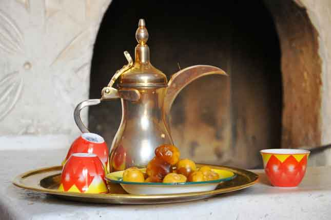 Arabic Coffee in Desert