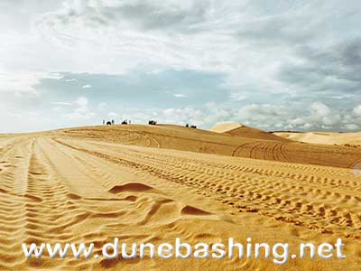 dubai desert in morning