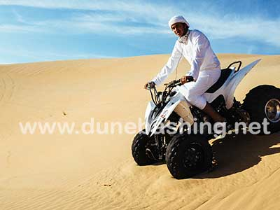 quadbiking in desert