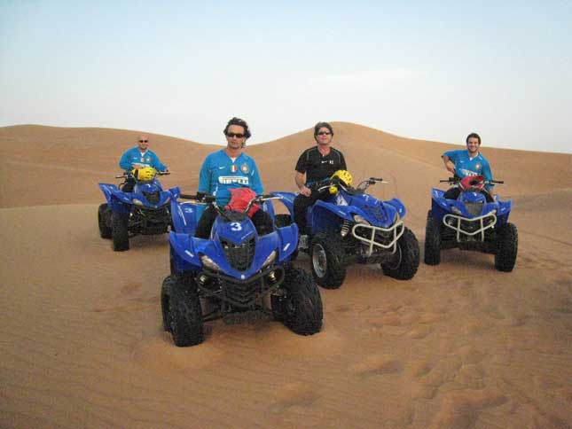 quad biking in Dubai Desert